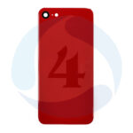 Backcover Glass Red For i Phone 8
