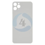 For Apple i Phone 11 Pro max backcover glas White