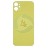 For Apple i Phone 11 backcover battery cover Yellow big holl