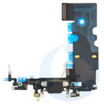 For Apple i Phone 8 Se 2020 charger flex connector Black