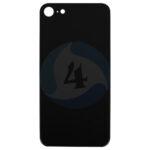 For Apple i Phone 8 Se 2020 ear Back cover black glass