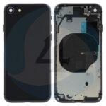 For Apple i Phone 8 Se 2020 ear Back cover black
