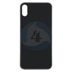 For Apple i Phone Xs batterij cover backcover glas big holl black