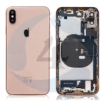For Apple i Phone Xs batterij cover backcover housing pulled Gold