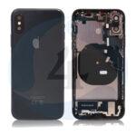For Apple i Phone Xs batterij cover backcover housing pulled black