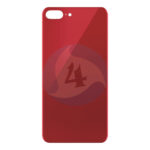 For Apple i Phone backcover housing Glass AAA Red