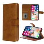 HQ boek bruin-hoesje-case-schutzhulle-coque-cover-smartphone-book case-boekmodel