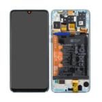 Huawei p30 lite Display lcd scherm servicepack battery met frame white