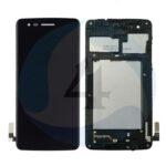 LCD Touch Frame Black For LG K8 2017 M200 N