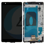 LCD Touch Frame Black For LG X Power K220