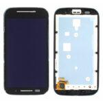 LCD Touch Frame Black For Motorola Moto E
