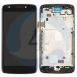 LCD Touch Frame Black For Motorola Moto E4