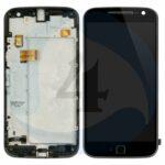 LCD Touch Frame Black For Motorola Moto G4 Plus XT1644