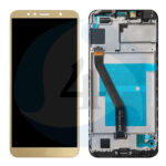 LCD Touch Frame Gold For Huawei Y6 2018