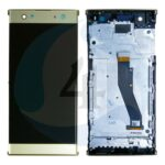 LCD Touch Frame Gold For Sony Xperia XA2 Plus