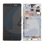 LCD Touch Frame Silver For Nokia Lumia 830