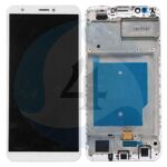 LCD Touch Frame White For Huawei Y7 Prime 2018