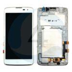 LCD Touch Frame White For LG K7 X210