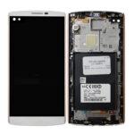 LCD Touch Frame White For LG V10 H960 A