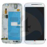 LCD Touch Frame white For Motorola Moto G4 Plus XT1644