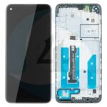 LCD Touch Pad Complete Motorola Moto G8 Xt2045 With Frame Black 5 D68 C16383 Original S Ervice Pack