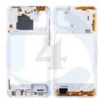 Samsung Galaxy A21s SM A217 F DS Middle Frame Bezel Plate Cover white
