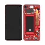 Samsung Galaxy S10 G973 Lcd Display Scherm Screen Black service Red