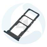 Sim Tray Black For Huawei Y7p ART L29
