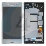 Sony xperia XZ Premuim lcd scherm display with frame Silver