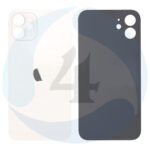 White replacement for iphone 12 mini back cover white 1