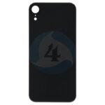 For Apple i Phone XR Batterij cover glass Black
