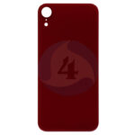 For Apple i Phone XR Batterij cover glass Red
