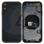 For Apple i Phone XR Batterij cover housing compleet black