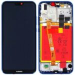 Huawei p20 lite ane lx1 lcd display touchscreen frame blue incl battery and parts 02351vuv 02351xua huw8443