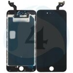 I Phone 6 S Plus LCD plus Digitizer plus Metal Plate Complete OEM Replacement Glass Black