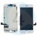I Phone 7 Display plus Touchscreen plus Metal Plate High Quality White