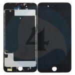 I Phone 8 PLUS LCD plus Digitizer plus Metal Plate Complete OEM Replacement Glass Black